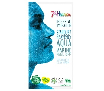 7th Heaven Stardust Heavenly Aqua Marine Glitter Peel Off Mask (Single)