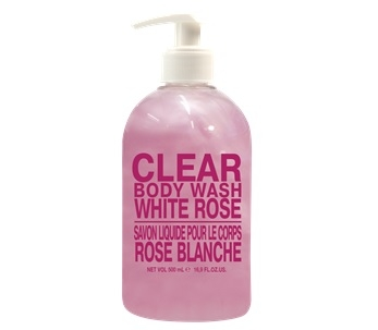 Clear White Rose Body Wash (500mL)