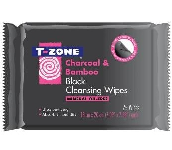 T-Zone Charcoal & Bamboo Wipes (25)